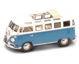 VOLKSWAGEN MICROBUS 1962 AZUL - ESCALA 1:43 ROAD LEGENDS