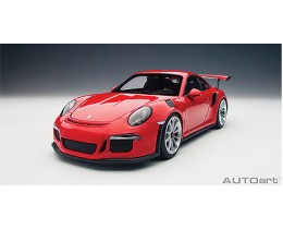 PORSCHE 911(991) GT3 RS (GUARDS RED/SILVER WHEELS) - AUTOART