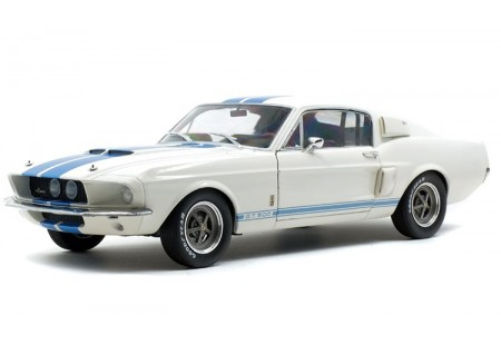 1967 SHELBY MUSTANG GT500 WHITE-BLUE STRIPES - SOLIDO