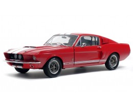 1967 SHELBY MUSTANG GT500 RED-WHITE STRIPS - SOLIDO