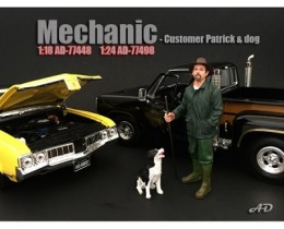 MECANICO PATRICK AND DOG (NO INCLUYE AUTO) - AMERICAN DIORAMA