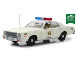 PLYMOUTH FURY 1977 HAZZARD COUNTY SHERIFF - GREENLIGHT