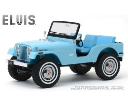JEEP CJ-5 SIERRA BLUE ELVIS PRESLEY - GREENLIGHT