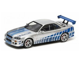 FAST AND FURIOUS NISSAN SKYLINE GT-R - ESCALA 1:43 GREENLIGHT