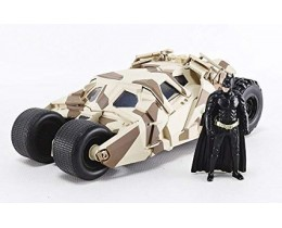 BATMOBILE 2008 THE DARK KNIGHT TUMBLER CAMO VERSION CON BATMAN - JADA