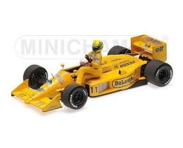 LOTUS HONDA 99T AYRTON SENNA RIDING ON SATORU NAKAJIMA CAR ITALIAN GP 1987 /W FIGURINE L.E. 1000 PCS. - MINICHAMPS
