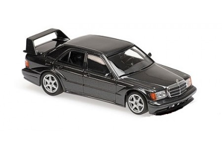 MERCEDES-BENZ 190E 2.5-16 EVO2 1990 BLUE-BLACK METALLIC- MINICHAMPS. ESCALA 1:43