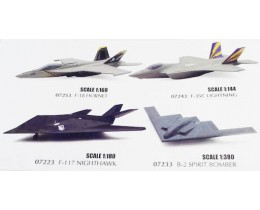 F-18 HORNET 1:160 F-35C LIGHTNING 1:144 F-117 NIGHTHAWK 1:18 B-2 SPIRIT BOMBER 1:380 - NEW RAY