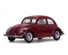 1961 VOLKSWAGEN BEETLE SALOON RUBY RED - SUNSTAR