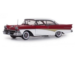 1958 FORD FAIRLANE 500 HARD TOP RED TORCH-COLONIAL WHITE - SUNSTAR