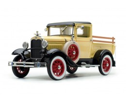 1931 FORD MODEL A PICKUP BRONSON YELLOW - SUNSTAR