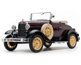 1931 FORD MODEL A ROADSTER FORD MAROON - SUNSTAR