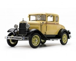1931 FORD MODEL A COUPE BRONSON YELLOW - SUNSTAR